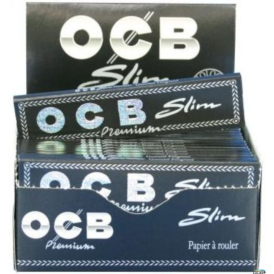OCB Slim Longpapers Black Premium